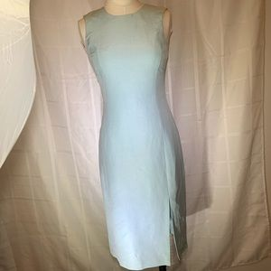 Oscar De La Renta Light Blue silk Dress NWT